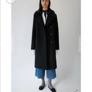 Acne Studio Black Omana wool Coat